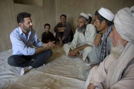 khaled hosseini hears from village elders in baghlan province about the conditions his community is facing