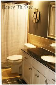 Bathroom Tile Displays Remodelaholic Bathroom Makeover Yellow Gray Color Scheme