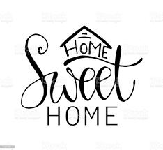 Home Sweet Home Typografie Poster Stock Vektor Art und mehr Bilder von  Banneranzeige - iStock