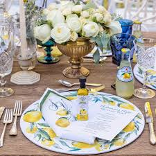 Italian Table Setting When Life Gives You Lemons Throw A Party Purple Velvet Project