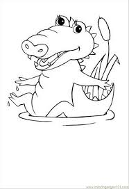 Small Picture Crocodile Coloring Pages To Print Coloring Home