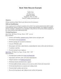 Sample Bank Teller Resume Free Resume Templates