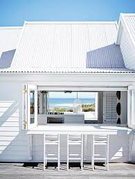 beach bar ideas beach cottage. White Patio Bar With Stools And View Of The Ocean / Sfgirlbybay Rustic Outdoor Shower Wood Walls Beach Ideas Cottage D