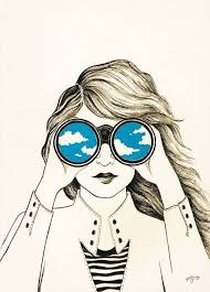 Hipster Drawings Girl Wearing Sunglasses Drawing David Simchi Levi