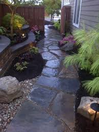 Image Stunning Front Walkway Ideas Bookingholidayclub Front Walkway Ideas Flagstone Lky In Leading To The Backyard