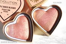too faced sweethearts flush blush and makeup revolution blushing hearts blusher