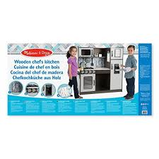 melissa and doug wooden chef s pretend play toy kitchen with ice cube dispenser