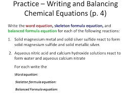 writing chemical equations formula for balancing word worksheet reactions and formulas answers balanced equatio