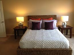 Master Bedroom Lamps Romantic Master Bedroom Decor With Woven Drum Lamp Shades And