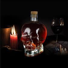 spirit head crystal skull liquor decanter
