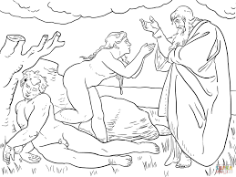 Small Picture Adam and Eve coloring pages Free Coloring Pages