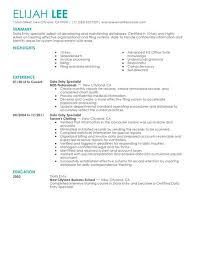 best data entry resume example   livecareer