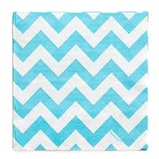 Light Blue Chevron Paper Napkins Amazon Com Amscan 501492 54 Disposable Chevron Beverage