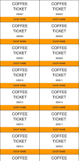 ticket templates premium templates forms coffee ticket template in excel