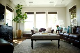 Living Room With Brown Leather Couch Family Room Design Living Room Ideas Living Room Ideas
