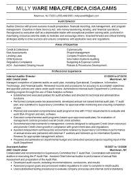 Auditing Resumes Audit Director Resume Example Financial Auditor Mba