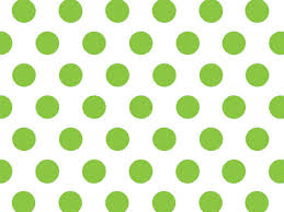 lime green polka dots tissue paper