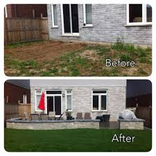 concrete slab patio makeover. Modren Makeover Backyard Makeover Stamped Concrete Patio With Sitting Wall  Slabs Intended Slab
