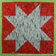 Evening Star Quilt Block Tutorial - 4