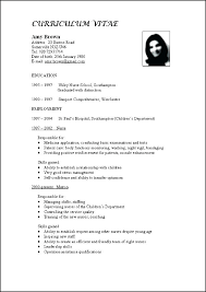Resume Examples Formats Updated Resume Examples Resume Vitae Sample Updated Curriculum Vitae
