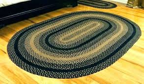 black and tan oval braided rugs blue ridge wool rug 8 x taky