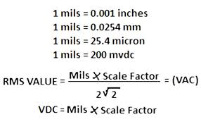 Micron To Mm Chart How To Do Calibration Checks Of Vibration Probe Extension