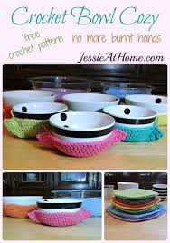 Bowl Cozy Pattern New Crochet Bowl Cozy Jessie At Home
