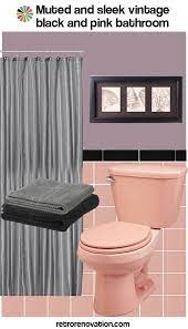 to decorate a pink and black bathroom