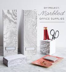 diy office. Marbled_office_supplies Diy Office