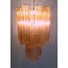 large tronchi chandelier in pink by toni zuccheri for venini 1960s design market
