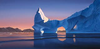 icebergs photograph icebergs at sunset by cliff wassmann