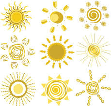 Sun Pattern Beauteous All Kinds Of Sun Pattern Vector Material My Free Photoshop World