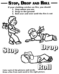 best fire safety images fire prevention safety fire safety printables fire safety coloring sheet showing stop drop and roll