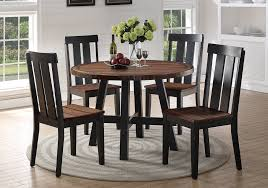 get ations 1perfectchoice 5 pcs round dining set distressed oak wood seating side chairs black legs base