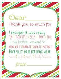 Printable Thank You Cards Christmas Printable Thank You Cards For Kids