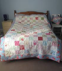 Patchwork Quilt, handmade country chic, bed throw, comforter ... & Patchwork Quilt, handmade country chic, bed throw, comforter, floral, Cath  Kidston fabric, romantic, pretty, blanket Adamdwight.com