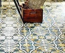 Patterned Linoleum Flooring Extraordinary Patterned Linoleum Flooring Kitchen Floor Covering Over Tiles