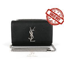 ysl saint laurent classic small kate monogram satchel in silver-<b>toned</b> ...
