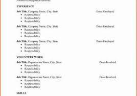 Blank Resume Template Pdf Or Sample Resume Format Sample Resume ...