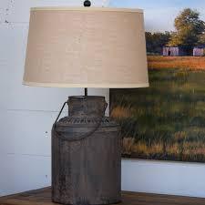 metal milk can table lamp