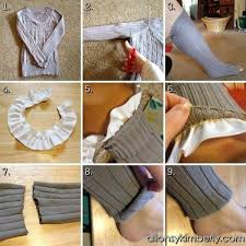 diy leg warmers socks from an old sweater