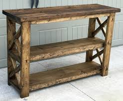 entrance furniture. step by instructions on how to build this rustic x entryway console entrance furniture