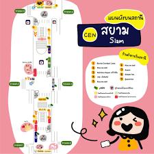 แผนผังบนสถานีสยาม (CEN) - ชี้เป้าโปรถูก