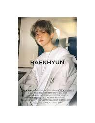City Lights Poster Baekhyun Poster Baekhyun 1st Mini Album City Lights Day Ver Poster
