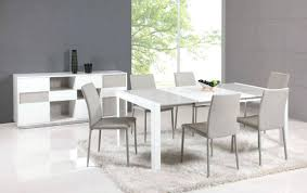 Contemporary Kitchen Sets Furniture White Counter Height Table
