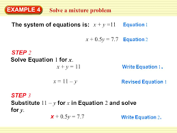 the system of equations is x 0 5y 7 7 solve equation 1 for