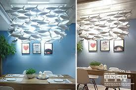 ceramic life ceramic fish lamp chandelier creative lighting restaurant simple hotel bar living
