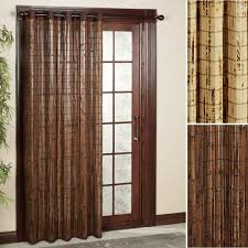 patio door curtain panel with bamboo sliding ideas and two panels door full size