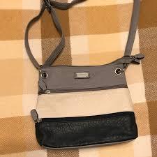 handbags tri color cross leather purse