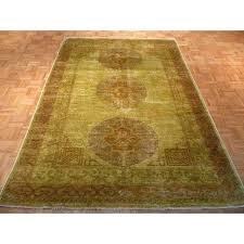 emerald green persian rug light wool hand knotted oriental x with